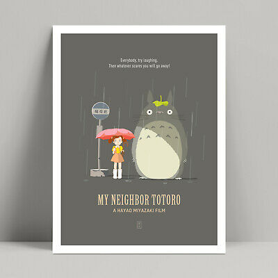 My Neighbor Totoro - Minimalist Movie Poster, Spirited Away, Studio Ghibli