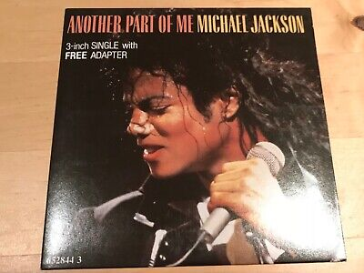 """MICHAEL JACKSON - Another Part Of Me 3"""" CD Single with adaptor 652844 3 1988"""