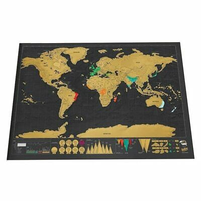 Deluxe Erase World Travel Scratch Off Map For Travelers 82.5x59.4cm