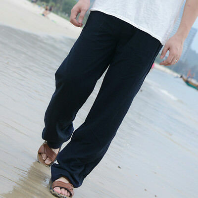 """Summer Linen Thin Trousers Casual//Travel Loose Fit Men/'s Beach Pants W28/""""-42/"""""""