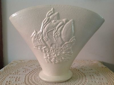 Large E G Greenway ? Vintage Vase With Mayfair Sailing Ship On Front #1304 Base