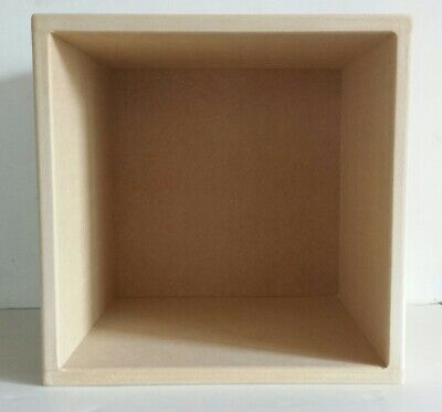 "12"" Vinyl Record Storage Cube With Solid Back"