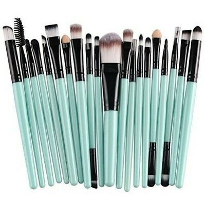 AKORD Soft Powder Foundation/Eyeshadow/Eyeliner/Lip Makeup Brush Sets, 20-Piece