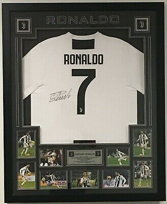 19c32ff989a Signed Cristiano Ronaldo Juventus Jersey Framed with COA
