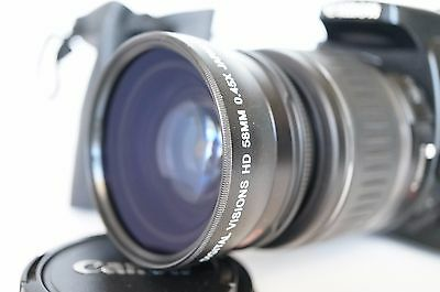 Macro Wide Angle Lens for Canon Eos Digital Rebel T6i sl2 XTi w/50MM 35MM 28MM