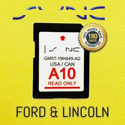 Latest Sync 2019 / 2018 A10 Ford & Lincoln Navigation Map Update Sd Card Us/Can