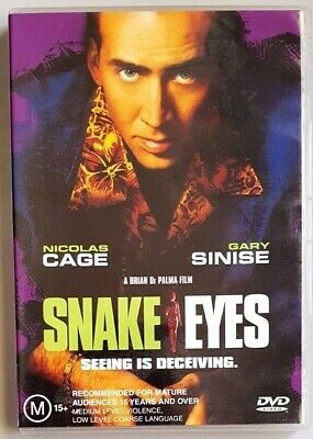Snake Eyes (Nicholas Cage & Gary Sinise) DVD **LIKE NEW** (Region 4)