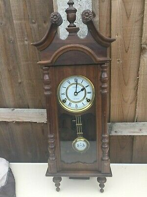 Vintage Lovely President Wind-up 31 Day Wall Clock. Chimes and With Pendulum