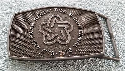Vintage American Revolution Bicentennial Belt Buckle Aged Patina Official Lee NY