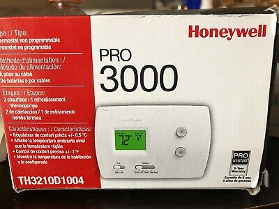 Honeywell Pro 3000 Non-Programmable Thermostat #TH3210D1004