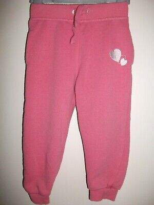 Girls Pink Fleece Lined Joggers - Age 18-24 Months