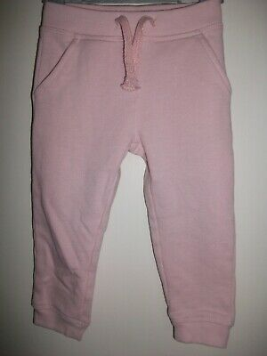 Girls Pale Pink Fleece Lined Joggers - Age 18-24 Months