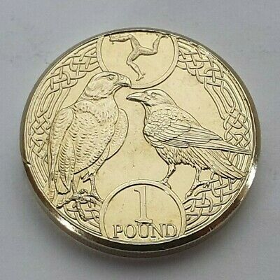 2018 Isle of Man Falcon & Raven £1 coin - Uncirculated