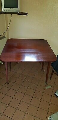 Antique Victorian Mahogany Drop Leaf Pembroke Table, Single drawer,taper legs