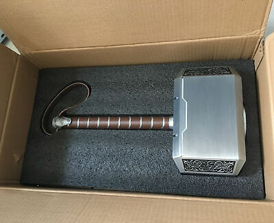 NEW Full Metal 1:1 Replica The Avengers Thor Hammer Props Cosplay Decoration