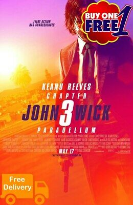 John wick chapter 2 movie poster 2019  A3/A4 v4