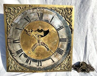 Antique Halifax Moon Longcase Grandfather Clock Dial & Movement EWBANK ELLAND
