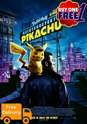 Pokemons detective Pikachu  movie poster 2019  A3/A4 v9