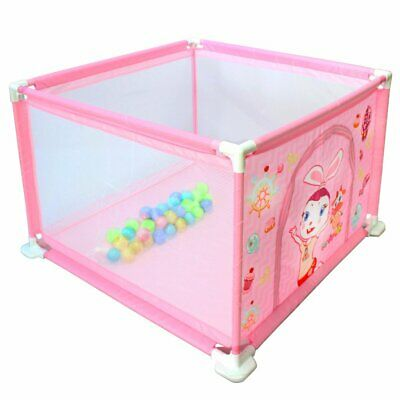 Baby Playpen Activity Center Baby & Toddler Safety Play Area + 50 Balls