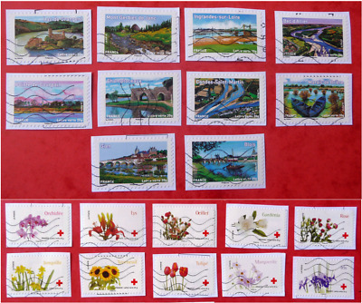 Lot 2 Series Timbres France Croix Rouge 2013 2014