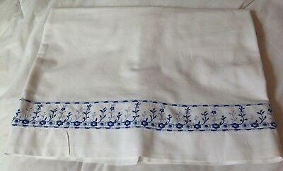 Embroidered Vintage French Double Sheet