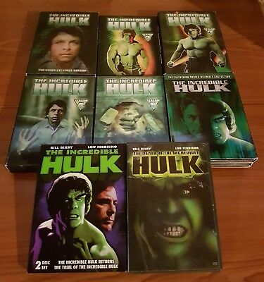 The Incredible Hulk Complete 1978 Series DVD Set Collection Lot + T.V. Movies