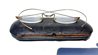 anciennes lunettes avec poinçons or ( old glasses gold )   NY CITY  ( binocle )