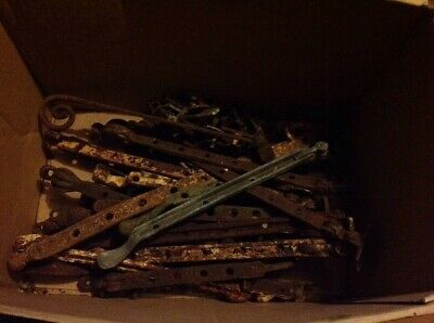 Collection Of Vintage Window Stays Levers Catches (21 Stays & 46 Pins)