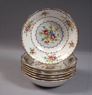 Royal Albert Vintage Petit Point Bone China Cereal Soup Bowl England