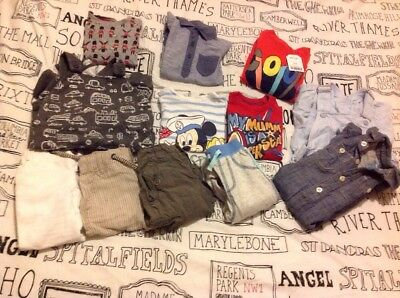 6-9 Months Boys Mixed Clothes Lot Bundle Next H&M Gap George Ted Baker Dungarees