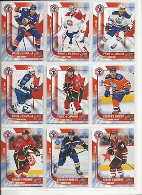 2015-16 Ud Nhcd National Hockey Card Day Canada Complete 17 Card Set- Mcdavid Rc