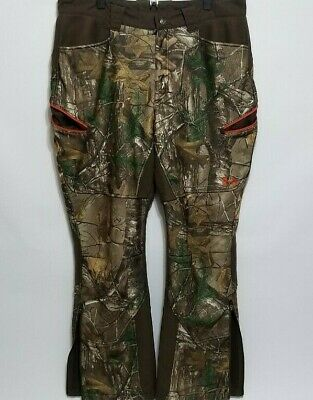 8b9880c653501 Under Armour Men's Realtree Storm Camo Fleece Lined Hunting Pants Size 38  ...