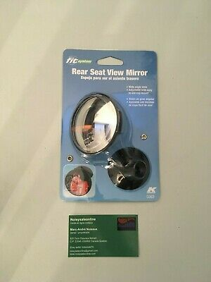Stick-On and Clamp-On Convex Rear Seat View Mirror