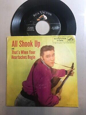 ELVIS PRESLEY....All Shook Up - 45 RPM with Picture Sleeve RCA 47-6870