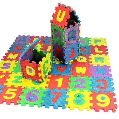 36Pcs Child Kids Novelty Alphabet Number EVA Foam Puzzle Learning Mats Toy Code
