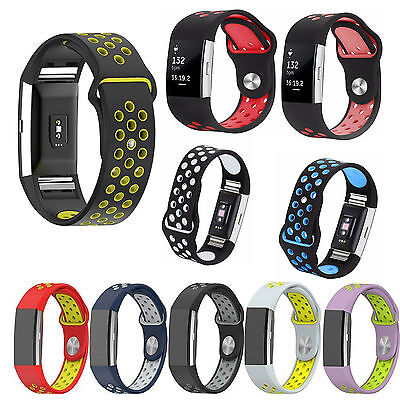 New Sport Soft Silicone Band For Fitbit Charge 2 / 2 HR Strap Wrist Bracelet