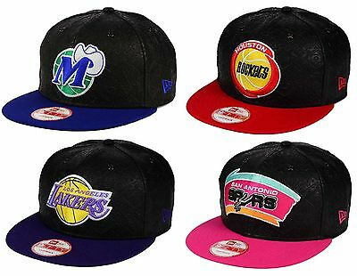new products d148e 4f851 New Era 9FIFTY NBA HWC Leather Tri-Boss West Snapback Cap Hat  35