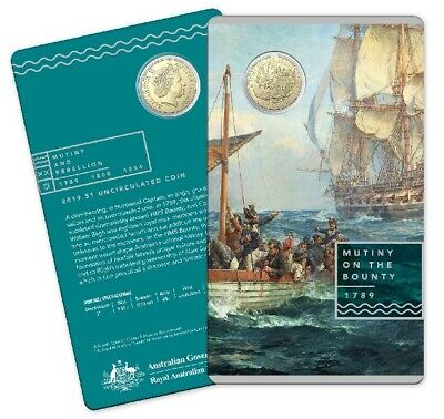 2019 $1 Uncirculated Coin.  Mutiny and Rebellion - Mutiny on the Bounty