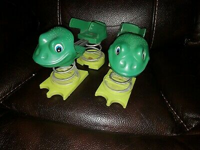 Rare hard to find vintage Toy frog Jumping Shoes Metal Springs (very cool)