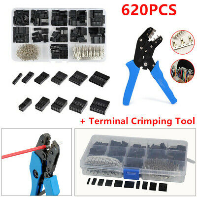 620Pc 2.54mm Wire Jumper Housing Pin Connector+SN01BM Terminal Crimping Tool Kit