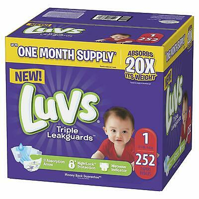 Luvs Ultra Leakguards Disposable Baby Diapers Newborn Size 1 2 3 4 5 6