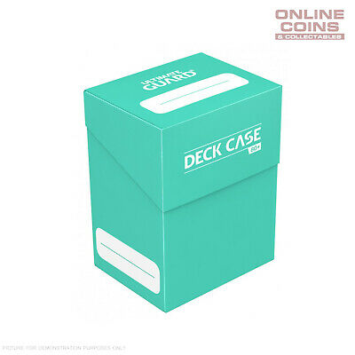 Deck Box Ultimate Guard Deck Case 80+ Standard Size TURQUOISE