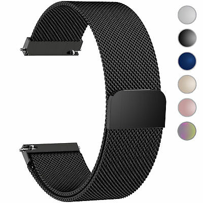 Milanese Loop Bracelet Stainless Steel Watch Band For Fossil Q Venture HR Gen 4