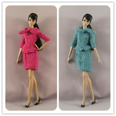 2 set Fashion OL  Top+Skirt  dress Suit  clothes Outfit  For 11.5in.12 inch Doll