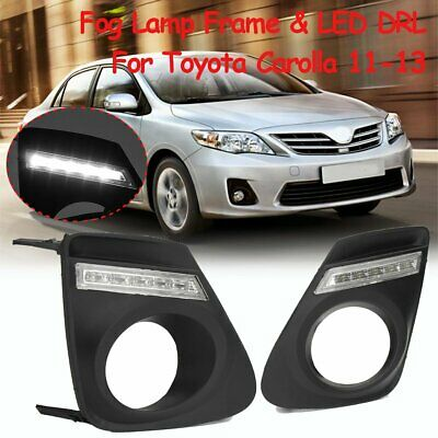 For 2011 2012 2013 Toyota Corolla White LED Fog Light Daytime Running Lamp DRL