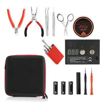 US SHIP Coil Master DIY V2/3 Tool Kit Fall Release Ohm Meter Ceramic Tweezer Kit