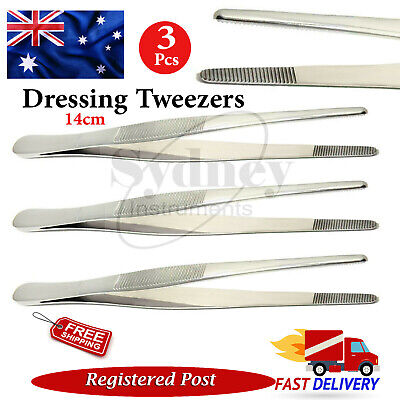 Surgical Cotton & Dressing Tweezers Tissue Thumb Adson Atraumatic Dental  Pliers