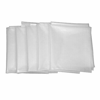 """Clear Plastic Dust Collector Bag 5 Pack 20"""" Diameter by 43"""" Long For Machines"""