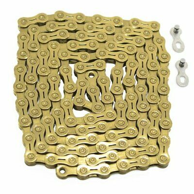 US SELLER Gold New YBN 9 Speed SLA-901 Bike Bicycle Chain Road 116 Links