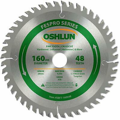 Oshlun SBFT-160048 160mm 48 Tooth FesPro Crosscut ATB Saw Blade with 20mm Arbor